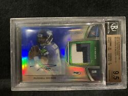 2012 Bowman Sterling Russell Wilson Rc Auto Blue Refractor /99 Rpa Seahawks