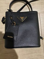Prada Small Double Leather Bucket Bag $999.00
