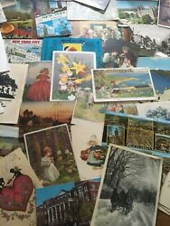 Vintage Lot Of 100 Plus Post Cards 1930's Through The 1970's