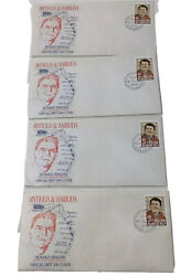 4 Antigua And Barbuda Stamp First Day Cover 1984 Ronald Reagan Envelope Extras