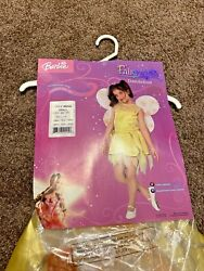 Barbie Fairytopia Dandelion Costume Size S 4-6 Dress And Wings New