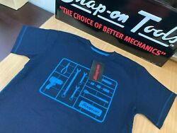 Snap-on Tools Mens Navy Blue Tool Design Cotton T-shirt Medium 37in Chest New