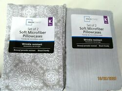 PILLOW CASES..KING SIZE..SET OF 2..SOFT MICROFIBER