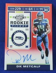 Dk Metcalf 2019 Contenders Optic Contenders 114 Red Ticket 55/199 Prizm Auto Rc