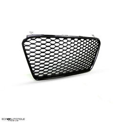 Fit For 14-15 R8 Gen1 42 Car Open Vented Grill Grille Euro Style['gloss Black]