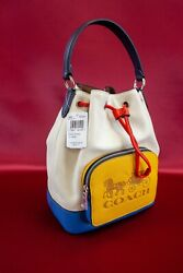 COACH Jes Drawstring Bucket Bag In Colorblock With Horse And Carriage $278.00