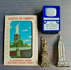 New York City Souvenirs. Statue Of Liberty Television View Finder Empire State