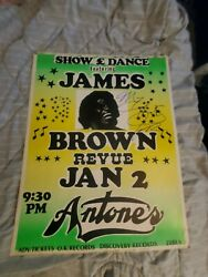 James Brown Autographed Signed Soul Cardboard Real Boxing Style Concert Poster