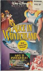 Alice In Wonderland Vhs, 1998 | Masterpiece Collection | Factory Sealed | Rare