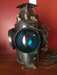 """The Adlake Non Sweating Lamp Chicago Vintage 4 Way Railroad Light 16"""""""