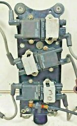 Mercury Optimax 3.0 L Ignition Coil Set With Mounting Plate Outboard 200 225hp