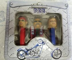 🏍🍊new 2006 Pez Orange County Choppers Limited Edition Collector's Tin Set🏍🍊