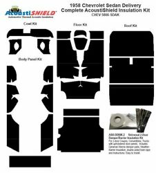 1958 Chevrolet Sedan Delivery Complete Acoustic Insulation Kit