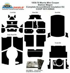1959 - 1970 Morris Mini Cooper Station Wagon Complete Acoustic Insulation Kit