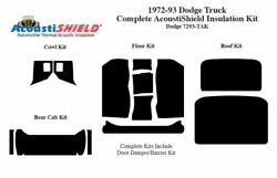 1972 - 1993 Dodge Truck Complete Acoustic Insulation Kit