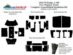 1964 - 1970 Dodge A 100 Series 5 Window Truck Complete Acoustic Insulation Kit