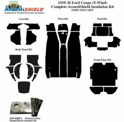1935 1936 Ford 5 Window Coupe Complete Acoustic Insulation Kit