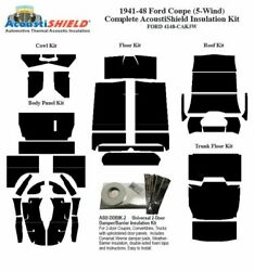 1941 - 1948 Ford 5 Window Coupe Complete Acoustic Insulation Kit