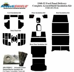 1948 - 1952 Ford Truck Panel Delivery Complete Acoustic Insulation Kit