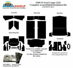 1949 - 1951 Ford Coupe Complete Acoustic Insulation Kit