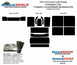 1973 - 1979 Ford F150 Truck Extended Cab Complete Acoustic Insulation Kit