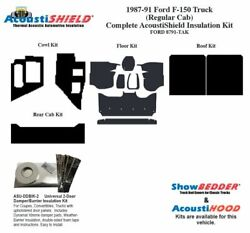 1987 - 1991 Ford Truck Regular Cab Complete Acoustic Insulation Kit