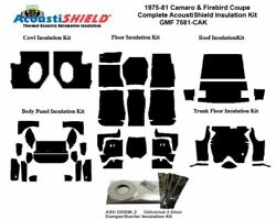 1975 - 1981 Camaro And Firebird Coupe Complete Acoustic Insulation Kit