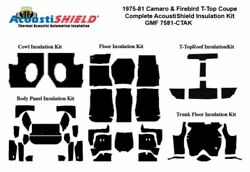 1975 - 1981 Camaro And Firebird Coupe T Top Complete Acoustic Insulation Kit