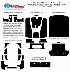 1973 - 1976 Mg C Gt V8 Coupe Complete Acoustic Insulation Kit