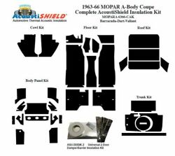 1963 - 1966 Mopar Dodge And Plymouth A Body Coupe Complete Acoustic Insulation Kit