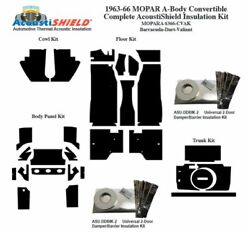 1963 - 1966 Mopar Dodge And Plymouth A Body Convertible Complete Insulation Kit