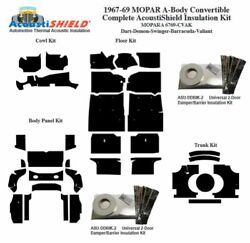 1967 - 1969 Mopar Dodge And Plymouth A Body Convertible Complete Insulation Kit