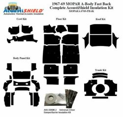 1967 1969 Mopar Dodge Plymouth A Body Fastback Complete Acoustic Insulation Kit