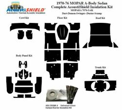 1970 - 1976 Mopar Dodge And Plymouth A Body Sedan Complete Acoustic Insulation Kit