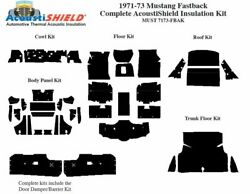 1971 - 1973 Ford Mustang Fastback Complete Acoustic Insulation Kit