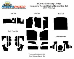 1979 - 1993 Ford Mustang Coupe Complete Acoustic Insulation Kit
