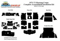 1971 - 1973 Ford Mustang Coupe Complete Acoustic Insulation Kit