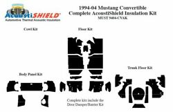1994 - 2004 Ford Mustang Convertible Complete Acoustic Insulation Kit