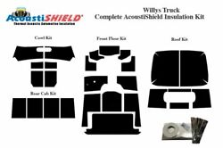 1947 - 1953 Willys Truck Complete Acoustic Insulation Kit