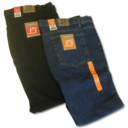 Big And Tall Menand039s Denim Jeans Stretch Fabric Relaxed Fit Waist 42 - 60 Full Blue