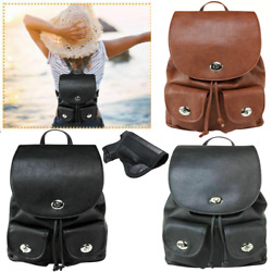 VISM Women#x27;s CCW Backpack Leather Concealed Carry Gun Purse amp; CCW holster $33.99