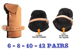 Alta Leather Tactical Outdoor Knee Pads Protection W/ 1/2 1 Thick Felt Padding