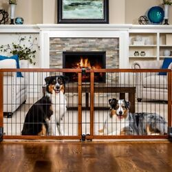 """Carlson Extension Pet Gate Freestanding Wood Dog Baby Safety Gate 28"""" Tall Large"""