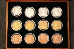 Australia And New Zealand Patina Collection Of 21 Proof Like Crown Sized Coins M9