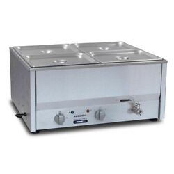 Commercial Roband Counter Bain Marie Food Warmer Bm4a Gp892 - 4x1/2 Gn