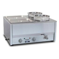 Commercial Roband Counter Top Bain Marie Food Warmer Bm4 Gp891 - 4x1/2 Gn