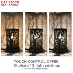 8 Metal Touch Lamps Forest Tree Shadow Bedside Desk Night Light Home Decoration
