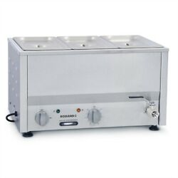 Commercial Roband Counter Top Bain Marie Food Warmer Bm2c Gp886 - 3x1/3 Gn