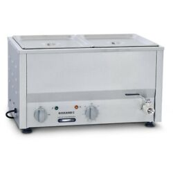 Commercial Roband Counter Top Bain Marie Food Warmer Bm2a Gp884 - 2x1/2 Gn