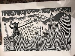 Stanley Donwood Silkscreen Art Print Signed Limited Edition Of 50